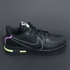Zapatillas Nike Air Force 1 React (GS) Talla 4.5-UK 37.5-EU CD6960 001 Negro
