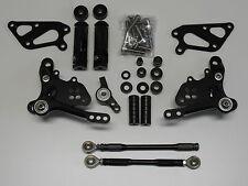DUCATI 1198 1098 848 race-europe CNC alluminio poggiapiedi posteriore Set Nero