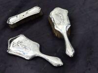 Solid Silver Brush & Mirror Set With English Hallmarks
