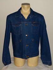 Vtg Mens Wrangler No Fault USA blue jean denim jacket size Large