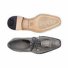 Belvedere Men Shoes Batta Gray Genuine Ostrich Lace Up 14006