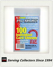 Pro-Select Single Card Soft Sleeves Pack (100)-WIDER OR GUERNSEY CRICKET CARD