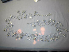 Castanets -Belly Dancing Waist Chain-Jewelry/Belt bd001- Silver Tone - Animals &