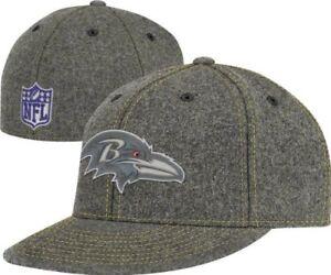 NFL Baltimore Ravens Reebok 210 Premium End Zone Flat Viso Fitted Brim Flex Hat