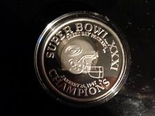 NFL Silver 1 OZ Super Bowl XXXI Green Bay Packers .999 Coin Limited Edition