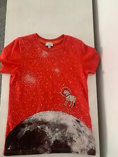 Boys Paul Smith Red Tshirt 4-5 Years Zebra Space