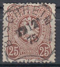 47736) BISCHHEIM Sachsen neuer Postort *1872 Stempel 1875 auf Mi.-Nr. 35