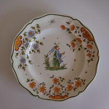 Assiette plate faïence earthenware MOUSTIERS AG art nouveau design XXe PN France