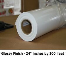 Shipped Free Poly Vinyl Banner Roll Polypropylene 24 X100ft Inkjet Glossy