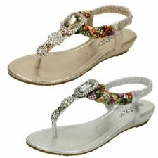 Standard Width (D) Spotted Wedge Sandals for Women