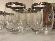 Dorothy Thorpe Mad Men Silver Rim Four Sizes Roly Poly Glasses set of 24 +bonus