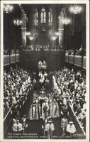King's Procession Leaving Westminster Abbey 1937 Real Photo Postcard