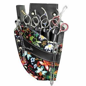 Hairdressing Scissor Pouch Kassaki Tool Belt Waist Bag Black Daisy Design