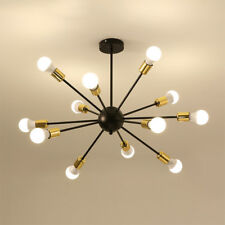Mid Century Gold Sputnik Chandelier 12 Arms Modern Pendant Lamp Ceiling Light