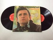 1970 JOHNNY CASH The World Of Johnny Cash - gatefold 2 Vinyl LPs NM