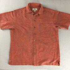 Island Shores Washable Silk Shirt Camp Aloha Hawaiian Short Sleeve Tag Size L