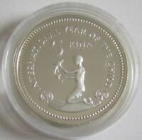 Papua New Guinea 5 Kina 1981 Year of the Child Silver