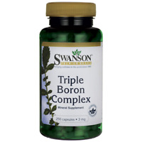 Swanson Triple Boron Complex 250 Capsules Bones muscles joints ligaments mental