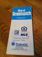 Vintage 1992 Hagstrom Map Greenwich Connecticut Prudential Real Estate Cos Cob