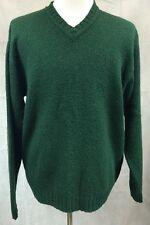 Polo Ralph Lauren Green Wool Alpaca Cotton Blend V-neck Sweater Men's SZ XL