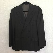 Vintage Polo University Club Sport Coat Mens 44 Gray Double Breasted 100% Wool