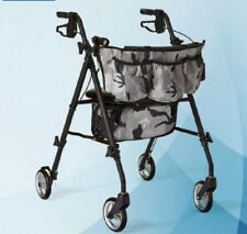 Walking Aids for Adults 4 Wheeled Walker with Seat Camo Print Accessories