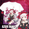 Game Azur Lane Vampire Short Sleeve T-shirt Unisex Tops Tee Casual S-4XL