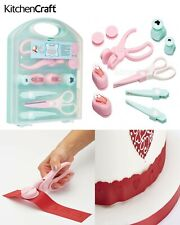 Kitchen Craft Sugarcraft Embossing Punch Scissor Set Cake Decorating Cutter Tool