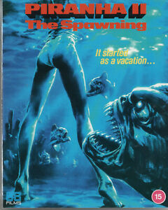 PIRANHA 2 THE SPAWNING - UK Blu Ray Disc - Limited Edition in Slipcase.
