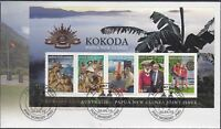 "2010 FDC Kokoda: Australia & Papua New Guinea Remember M.S. PictFDI""Port Moresby"