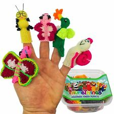 ThumbThings Handmade Finger Puppets, Set of 5: Butterfly, Caterpillar, Baby But