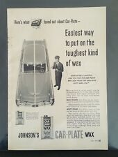 1955 Johnson's Car-Plate Wax Hertz Rental Company - Original Full Page Ad