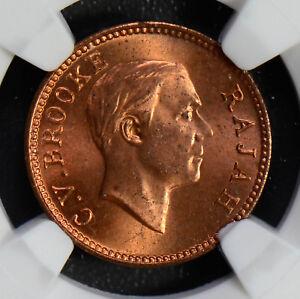 Sarawak 1933 H 1/2 Cent NGC MS64RB NG0546 combine shipping