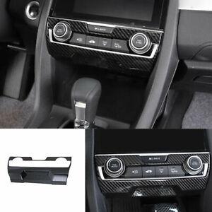 For HONDA Civic 10th 2016-2020 carbon fiber central console AC switch panel trim