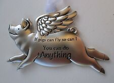 x You can do anything If Pigs can Fly then so can I pig ORNAMENT Ganz angel