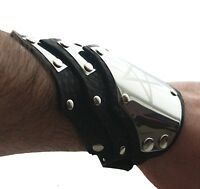 Personalized engraved symbol leather cuff bracelet wristband-Gothic-Steampunk.