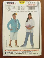 BURDA PATTERN - 9689 GIRL'S TUNIC TOP PANTS 7XL - 14XL EASY PLUS SIZES UNCUT