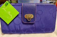 Disney Vera Bradley Deep Purple Zip Continental Wallet W Mickey's Print NWT
