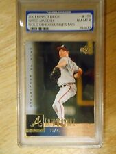 Greg Maddux 2001 Upper Deck GOLD UD EXCLUSIVES Parallel #05/25 Graded NM-MT 8