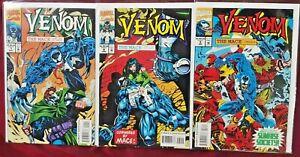 Venom The Mace 1 2 3 Marvel Comics 1994 NM/M Embossed Cover Complete MiniSeries