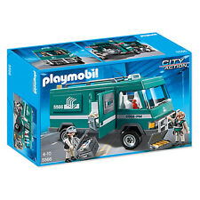 PLAYMOBIL City Action argent véhicule de transport NEUF