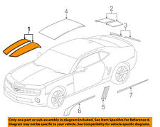 Chevrolet GM OEM 10-15 Camaro-Striping Kit-Stripe Tape Right 92235909