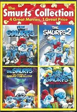 The Smurfs Collection  (DVD, 2015, Widescreen 4 Film / 2 Disc Set)  Brand New