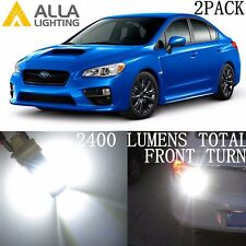 Alla Lighting 39-LED Front Turn Signal Light Bulb Blinker Lamp for Subaru,White