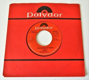 """Slade - Cum On Feel The Noize USA 1973 Polydor DJ Only Mono / Stereo 7"""" Single"""