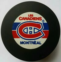 MONTREAL CANADIENS VINTAGE TRENCH MFG. NHL OFFICIAL HOCKEY PUCK MADE IN SLOVAKIA