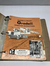 Gradall M 2460 And G 600 Carrier Operator Instructions Amp Service Manual
