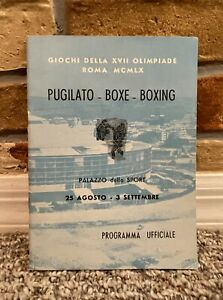 RARE! CASSIUS CLAY 1960 ROME OLYMPIC BOXING PROGRAM Muhammad Ali GOLD MEDAL XLNT