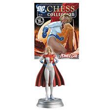 Eaglemoss Chess NEW * Power Girl* #45 White Pawn DC Comics Superhero / Villian