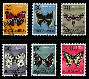 Yugoslavia 1964 Butterflies - Used Set - Cat £10 - (120)